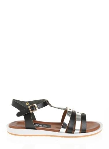 Derigo Siyah Kadın Sandalet 52471 Siyah